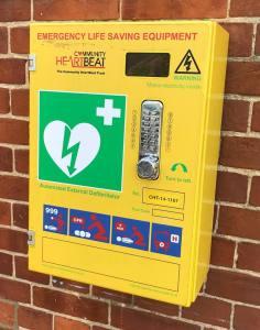 defibrillator (Kirby Cane hall)